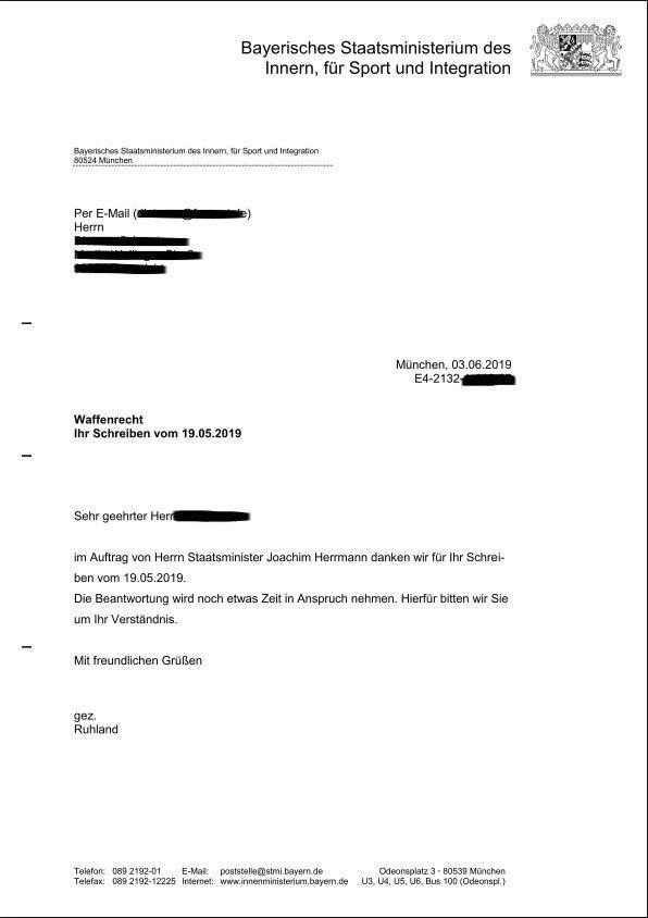 CDU Antwortschreiben