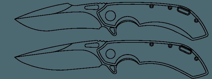Klingenformen beim Wayfarer von Olamic Cutlery