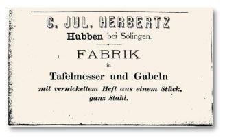 Historisches Firmenschild C. Jul. Herbertz