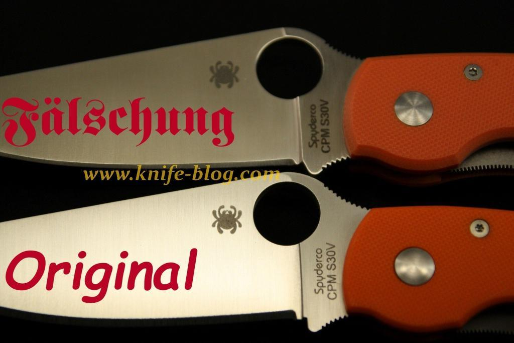 Gefälschte Spyderco Messer_ Spyderco Military C36GPOR