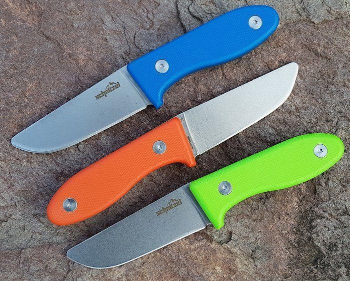 Schnitzel Kindermesser in drei Farben