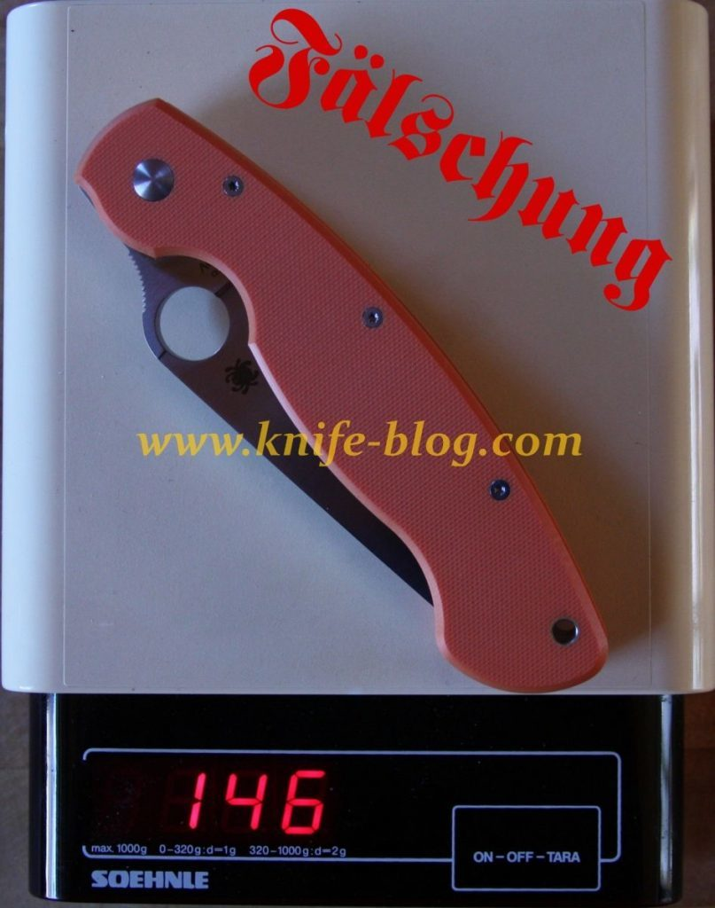 Gefälschte Spyderco Messer: Die Fälschung