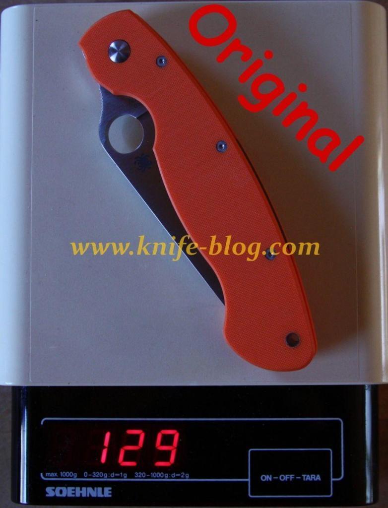 Gefälschte Spyderco Messer: Military Original