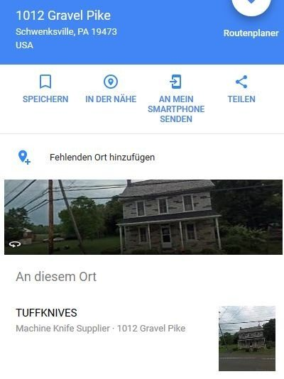TuffKnives bei Google Earth