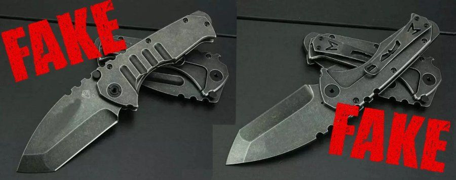 Fake Knives von Reeve, Shirogorov, Spyderco, ZT, Medford und Strider 3