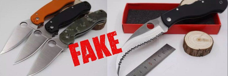 Fake Knives: Spyderco Paramilitary