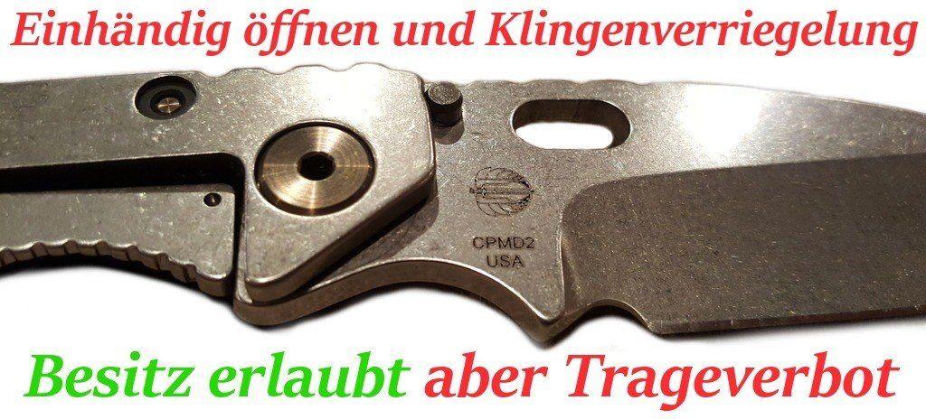 Deutsches Waffenrecht einfach erklärt: Einhandmesser