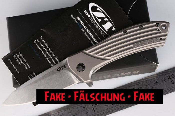 Fake Knives - Zero Tolerance