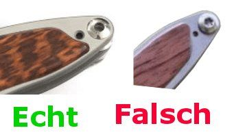 Fake Knives - Mnandi Original und Fälschung