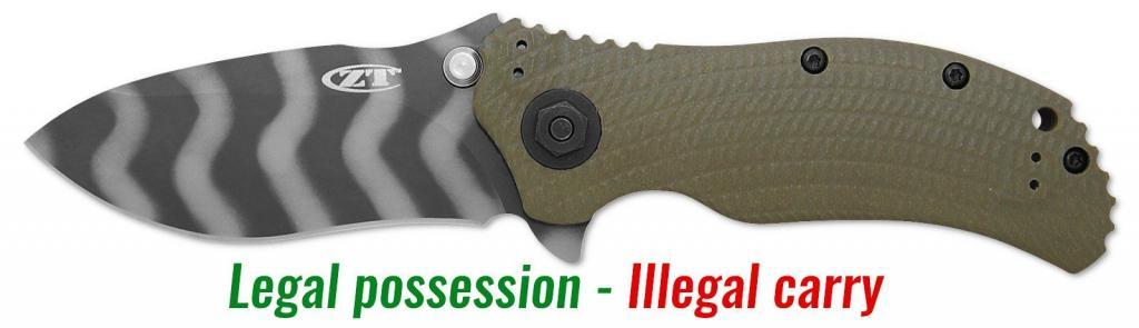 German knife law for knives and sharp tools 1