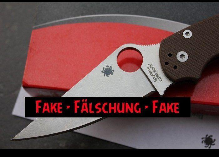 Fake Knives : Spyderco Paramilitary 2