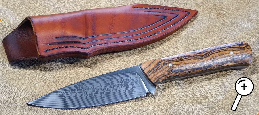 Fixed Blade mit Damastklinge von Erich Niemeier