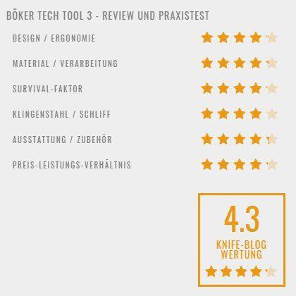 Böker Tech Tool 3 - Bewertung