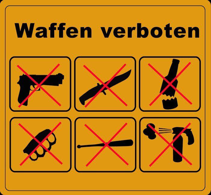 Kleiner Waffenschein als Erlaubnis auch in Waffenverbotszonen