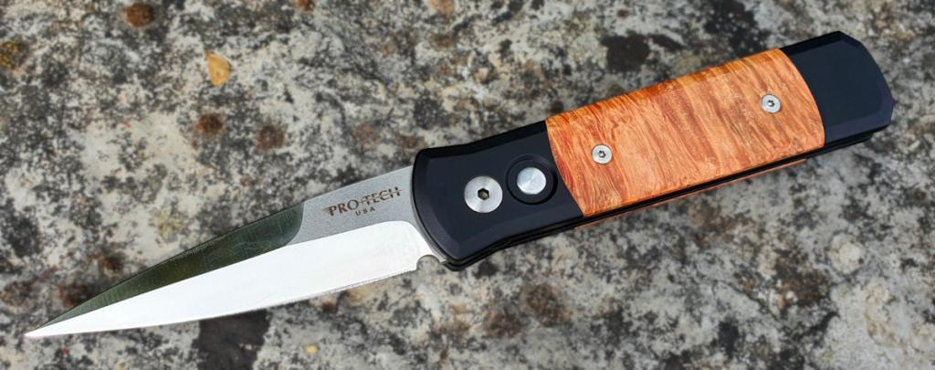 Pro-Tech Knives Godson Burl Wood