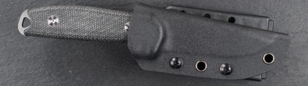 Steeltac MM1 mit Kydex-Scheide und Teklok