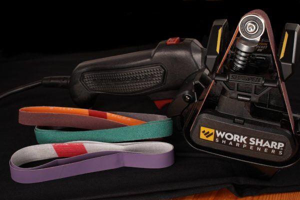Work Sharp WSKTS MK2 - Lieferumfang mit Schleifbändern